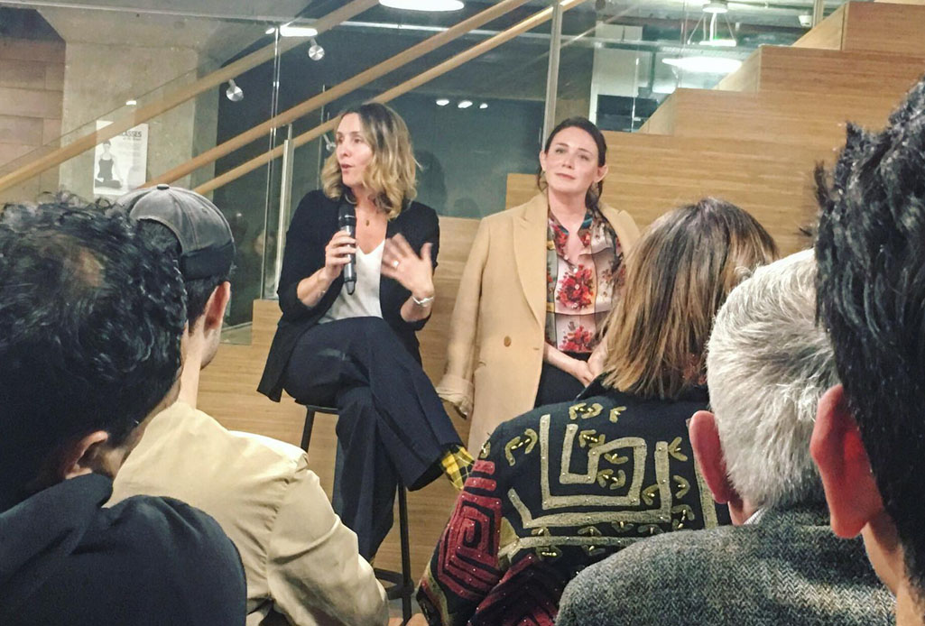 Vanessa Jacobs (The Restory) and Claire Bergkamp (Stella McCartney) discuss sustainability